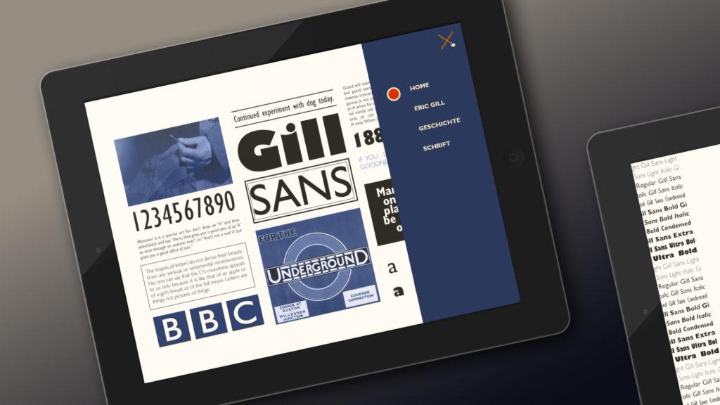 Webdesign Webentwicklung Tablet Gill Sans