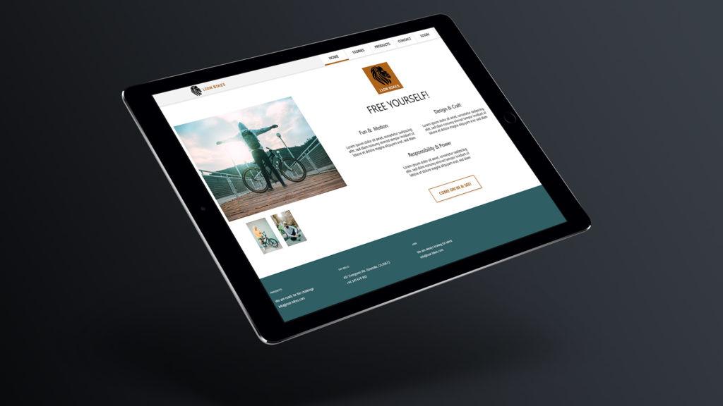 Webdesign Webentwicklung Tablet